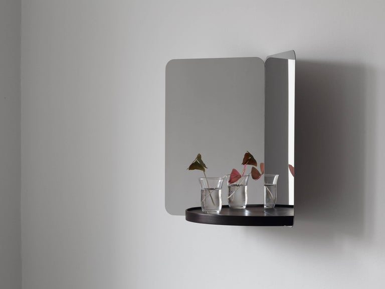 As part of Artek's first collaboration with Daniel Rybakken, the Norwegian designer created the 124° collection consisting of four mirrors available in three different sizes. Based on the designer's extensive research on the representation of