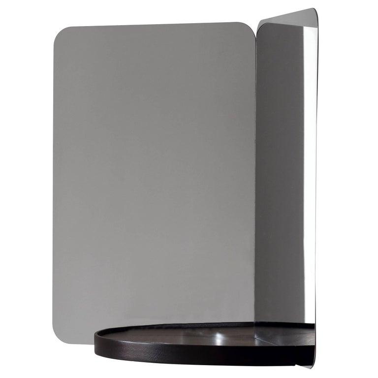 Authentic Mirror 124 with Black Tray by Daniel Rybakken & Artek, Medium For Sale