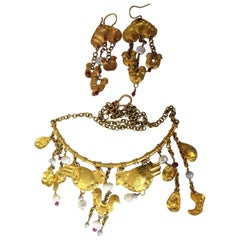 Authentic Misani Earrings and Necklace 18 Karat
