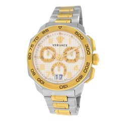 Authentic New Men's Versace Dylos Gold IP Quartz Watch