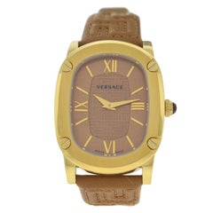Authentic New Versace Couture Gold-Plated Quartz Watch