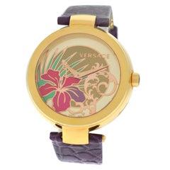 Authentic New Versace Mystique Hibiscus Quartz Watch