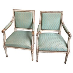 Authentic Pair of French Armchair, Louis XVI Period, 1775-1790