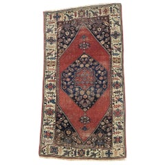 Authentic Persian Hand Knotted Antique Bijar Rug, circa 1880