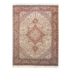 Authentic Persian Hand Knotted Geometric Heriz Rug