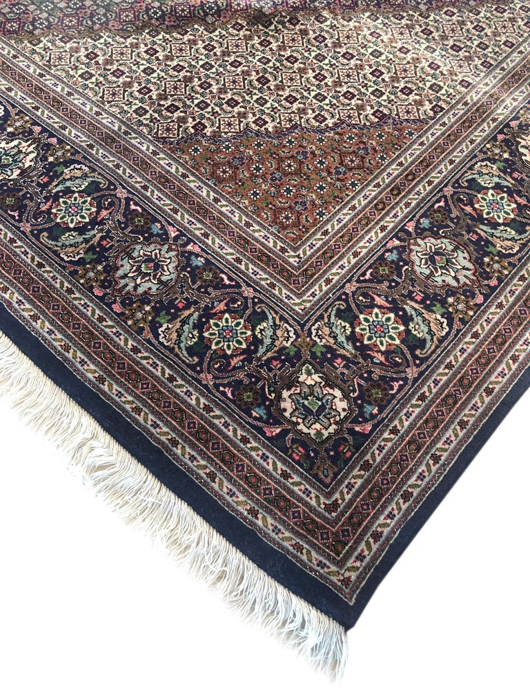 Authentic Persian Hand Knotted Medallion Fish Design 'Mahi' Tabriz Rug For Sale 4