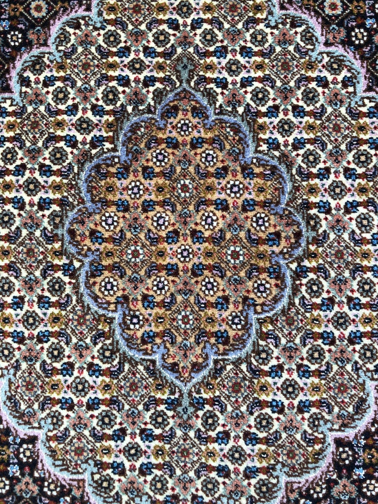 Hand-Knotted Authentic Persian Hand Knotted Medallion Fish Design 'Mahi' Tabriz Rug For Sale