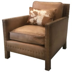 Authentic Ralph Lauren Leather Club Chair