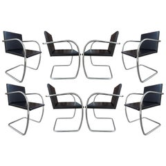Authentic Set of Eight Midcentury Knoll Brno Chairs by Mies van der Rohe