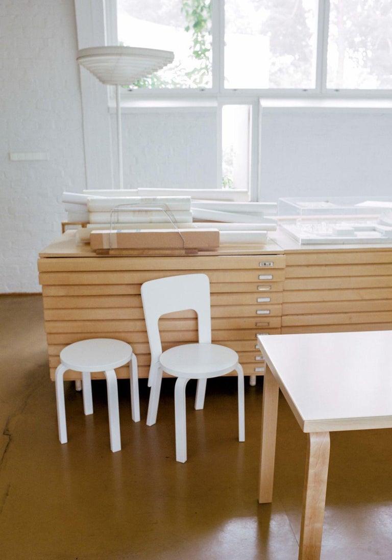 Contemporary Authentic Stool E60 in Birch by Alvar Aalto & Artek For Sale