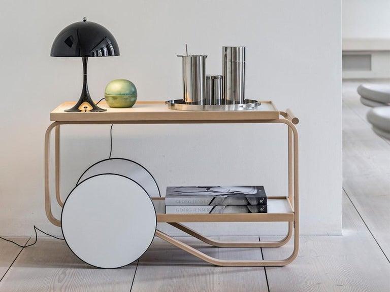 Contemporary Authentic Tea Trolley 901 in Birch by Alvar Aalto & Artek For Sale