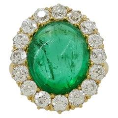 Tiffany & Co. 11 Carat Natural Colombian Emerald Diamond Ring 18 Carat
