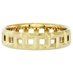 Authentic Tiffany & Co., 18 Karat Yellow Gold T True Band Ring