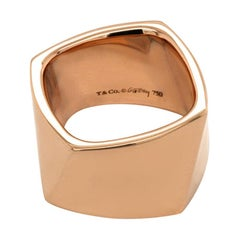 Authentic Tiffany & Co. 18K Rose Gold Frank Gehry Torque Wide Ring
