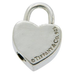 Authentic Tiffany & Co. 925 Sterling Silver I Love You Lock Pendant Charm