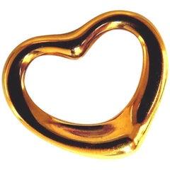 Authentic Tiffany & Co. Elsa Peretti Heart Pendant 18 Karat