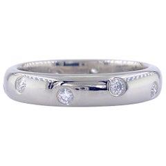 Authentic Tiffany & Co. Etoile Diamond Wedding Band Ring in Platinum