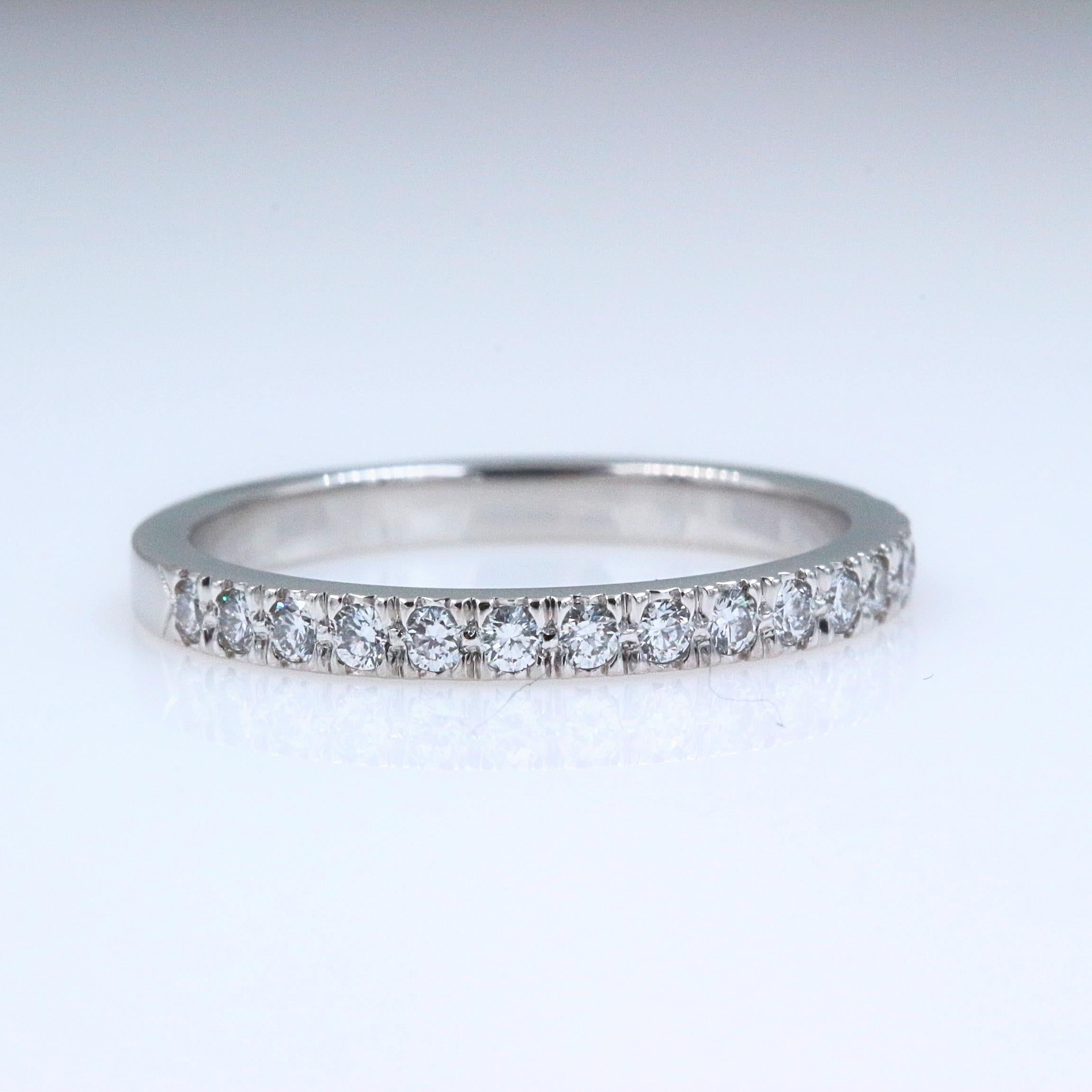 9ac74710a434 Authentic Tiffany and Co. Novo Platinum Diamond Wedding Band Ring 0.36  Carat For Sale at 1stdibs