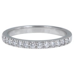 Authentic Tiffany & Co. Novo Platinum Diamond Wedding Band Ring 0.23 Carat