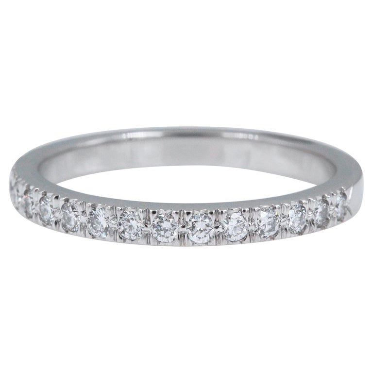 dc47ca1affc9 Authentic Tiffany   Co. Novo Platinum Diamond Wedding Band Ring 0.36 Carat  For Sale