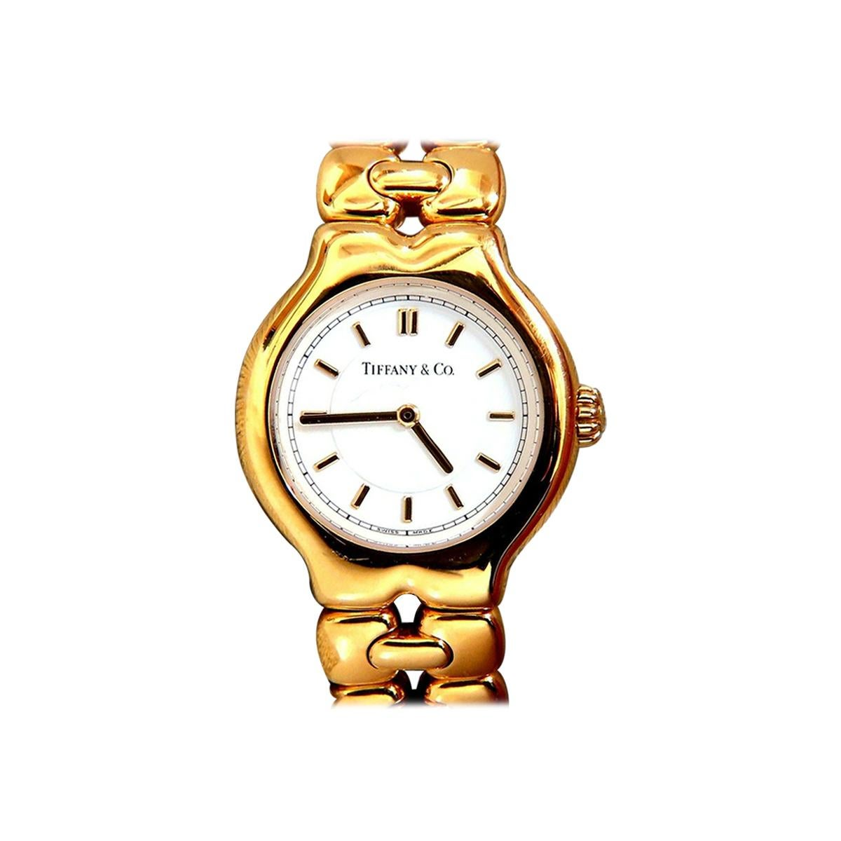 Authentic Tiffany & Co. Tesoro 18 Karat Gold Watch