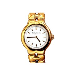 Authentic Tiffany & Co. Tesoro 18 Karat Gold Watch