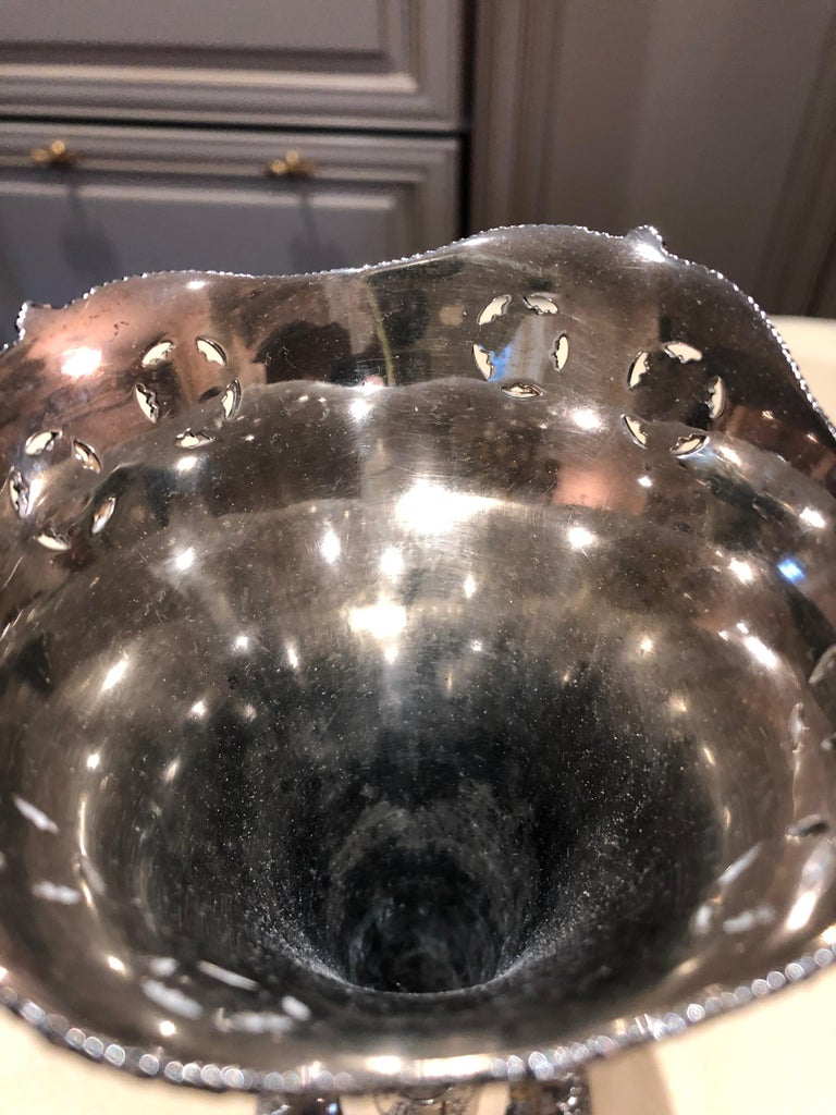 Authentic Tiffany Sterling Silver Trumpet Vase For Sale 1