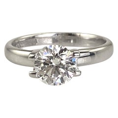 Authentic Tiffany& Co Diamond 1.37 Set in Authentic Tiffany&Co Solitaire Setting
