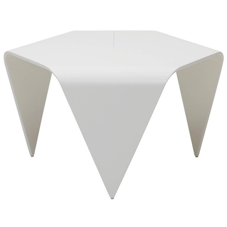 Authentic Trienna Table in White Lacquer by Ilmari Tapiovaara & Artek