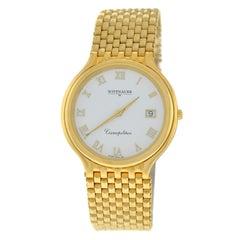 Authentic Unisex Wittnauer Cosmopolitan Quartz Date Gold-Plated Watch