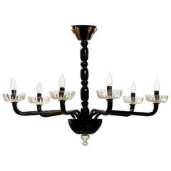 Authentic Venetian Modern Design Chandelier, Handmade in Murano Glass