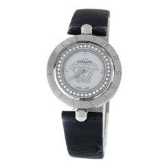 Authentic Versace EON Steel Diamond Quartz Mother of Pearl Watch