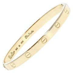 Authentic Vintage Cartier Aldo Cipullo Love Bracelet 18k Yellow Gold