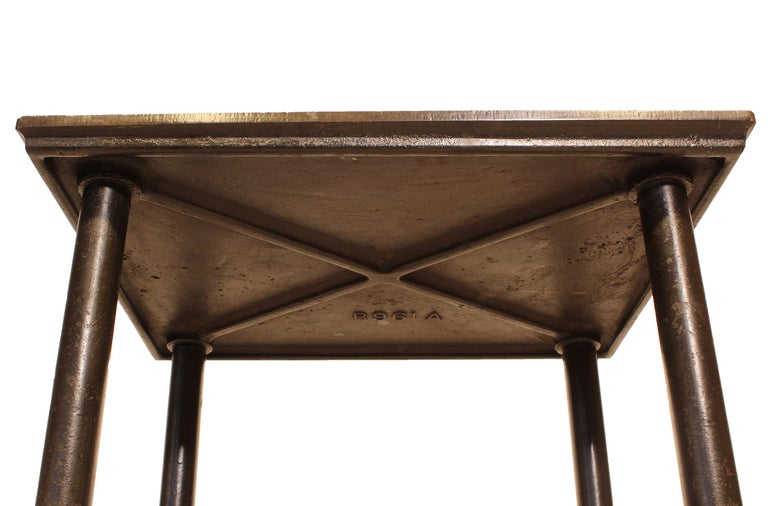 Authentic Vintage Industrial Cast Iron and Steel Letterpress Table/ Rolling Cart For Sale 6