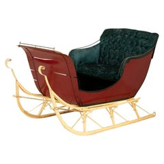 Authentic Vintage Red Painted Sleigh