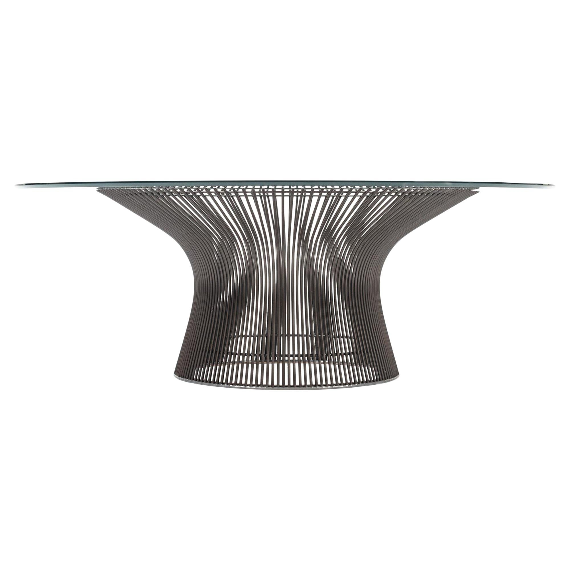 Authentic Warren Platner Coffee Table with Glass Top