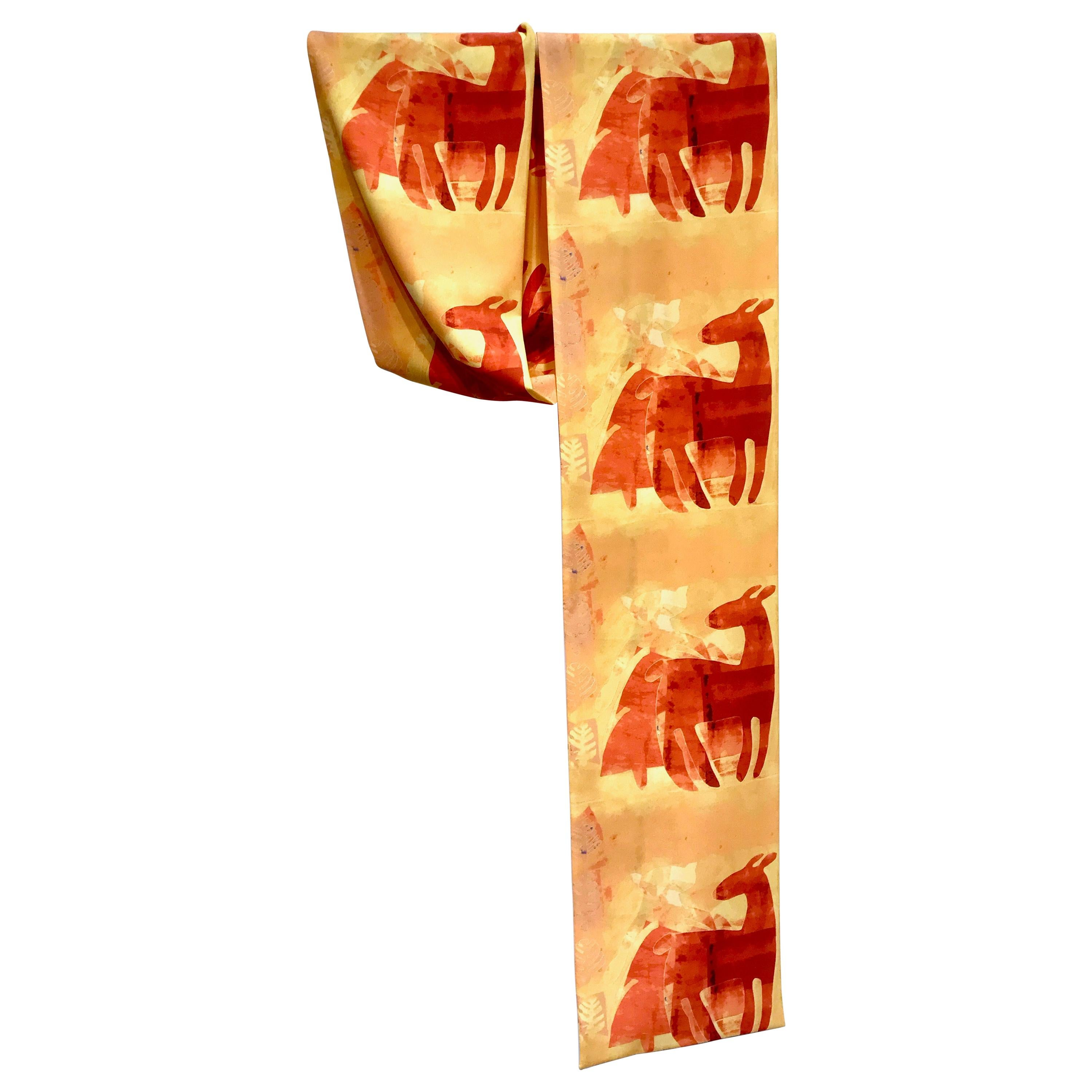 Auto Response to Fall, scarf, orange, yellow, gold, deer, cat, Native American