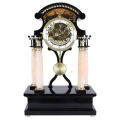 Automaton Clock with Moving Cupid, Vienna, 19th Century, Biedermeier, circa 1820