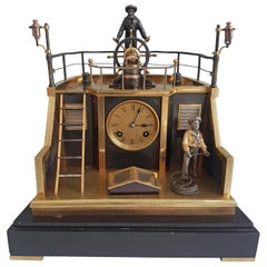Automaton Industrial Series Quarterdeck Mantel Clock by Guilmet