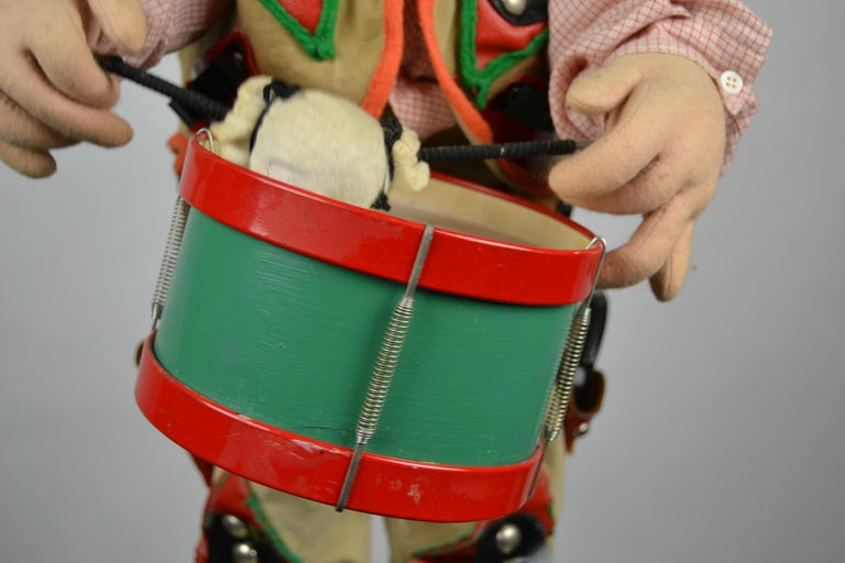 Automaton Texas Cowboy Doll Playing Drum, 1960s For Sale 8