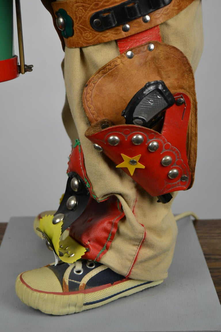 Automaton Texas Cowboy Doll Playing Drum, 1960s For Sale 10