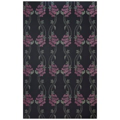 'Autumn Berry' Contemporary, Traditional Wallpaper in Blackberry