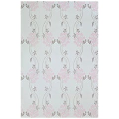 'Autumn Berry' Contemporary, Traditional Wallpaper in Vintage Pink