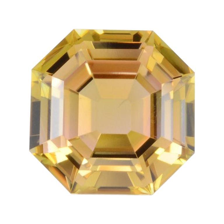Bicolor Tourmaline Ring Gem 4.47 Carat Asscher Cut Loose Gemstone