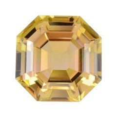 Bicolor Tourmaline Ring Gem 4.47 Carat Asscher Cut Loose Gemstone