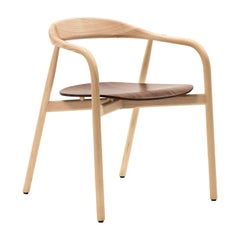 Autumn Chair with Natural Wood Seat by Discipline