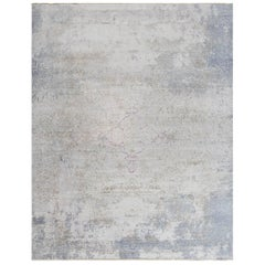 Modern Hand-Knotted Autumn Collection Rug in Silk and Wool by Thibault Van Renne