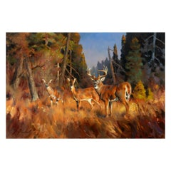 Autumn Forest Original Oil Painting by Greg Parker