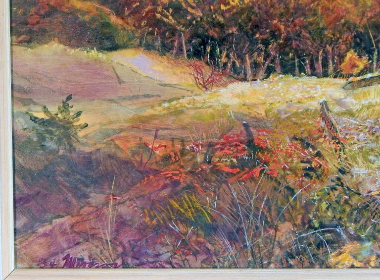 "American ""Autumn in Betsie Valley, Michigan,"" Brilliant Landscape Painting by Merizon For Sale"