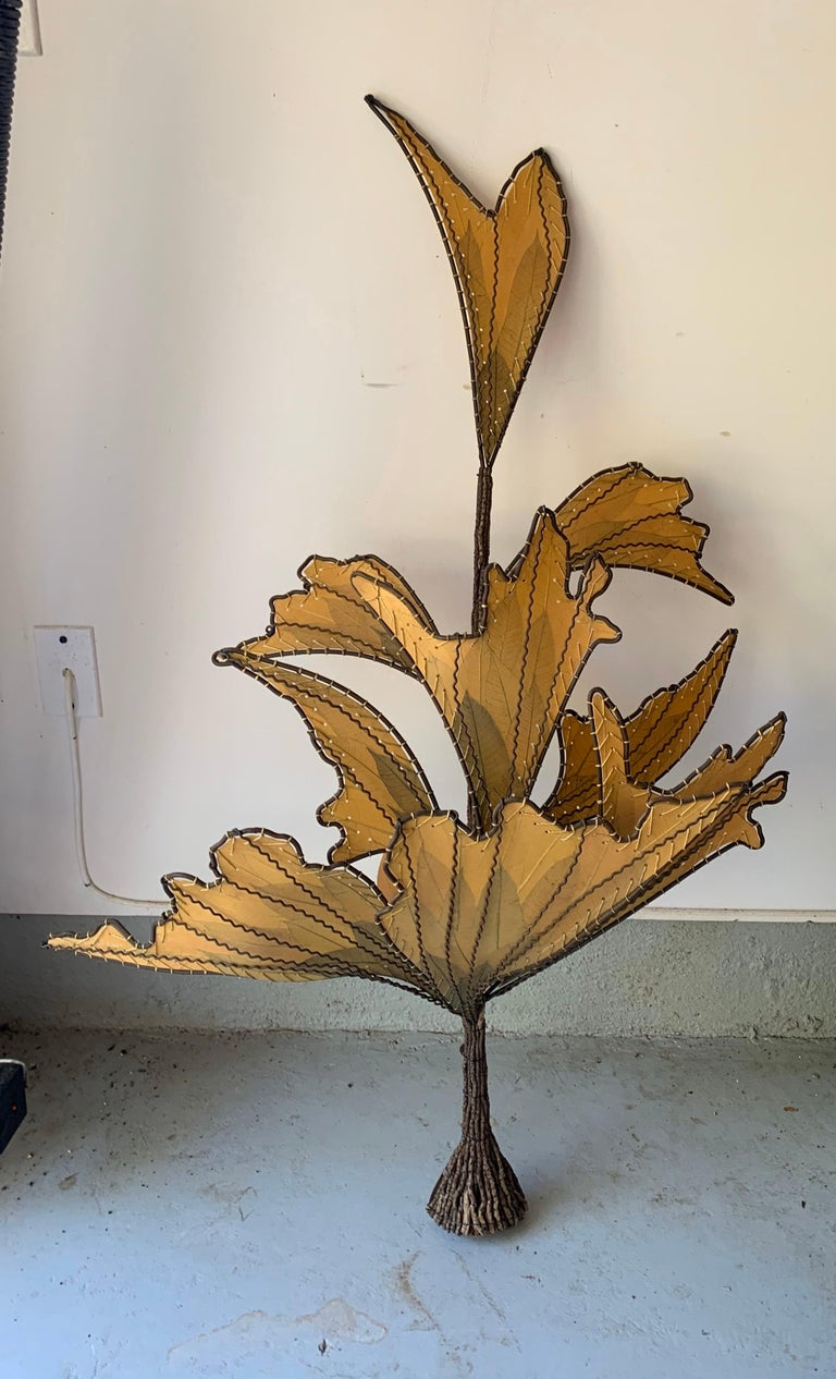 Unknown Autumn Leaves & Branches Wall Sconces, a Pair For Sale